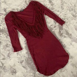 Ribbed Fringe Dress